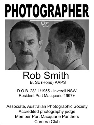 Poster provided to Port Macquarie police